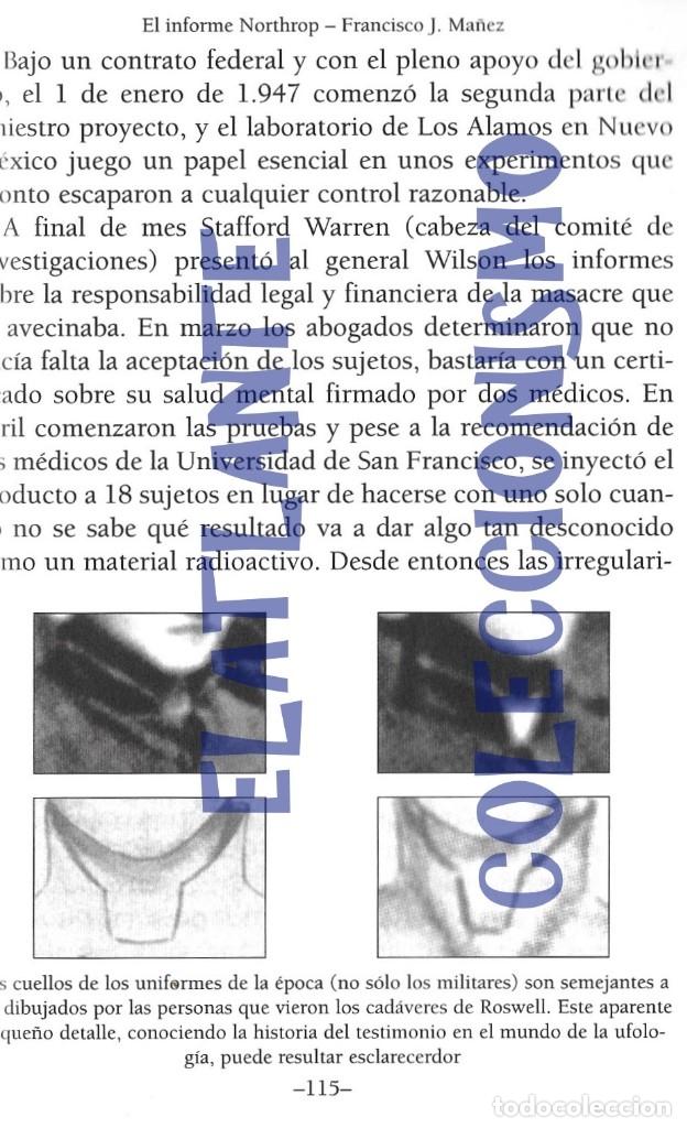 Libros de segunda mano: EL INFORME NORTHROP AERONAVES TERRESTRES TOMADAS POR EXTRATERRESTRES UFOS OVNIS UFOLOGÍA - 30 € - Foto 21 - 206184602