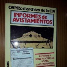 Libros de segunda mano: INFORMES DE AVISTAMIENTOS OVNIS EL ARCHIVO DE LA CIA ANDREAS FABER KAISER. Lote 178577167