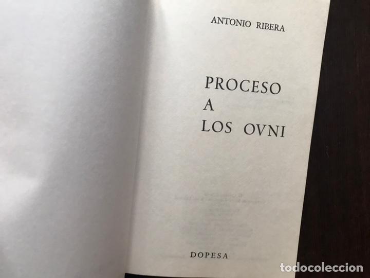 Libros de segunda mano: Proceso a los ovni.. Antonio Ribera. - Foto 3 - 180150742