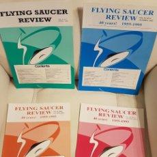 Libros de segunda mano: MÍTICA REVISTA UFOLÓGICA INGLESA FLYING SAUCER REVIEW - VOLUMEN 40 - Nº 1,2,3,4 - AÑO 1995 - OVNIS . Lote 180419241