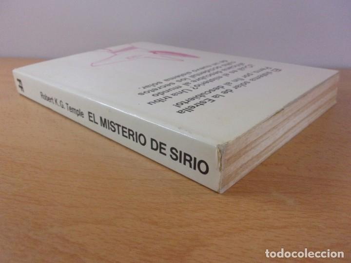 Libros de segunda mano: EL MISTERIO DE SIRIO / ROBERT K.G. TEMPLE / MARTINEZ ROCA. 1982 - Foto 4 - 182874451