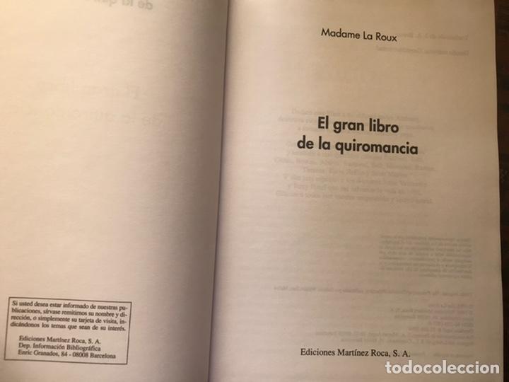 Libros de segunda mano: El gran libro de la quiromancia. Madame la Roux. . Martínez roca. Como nuevo - Foto 3 - 193943668
