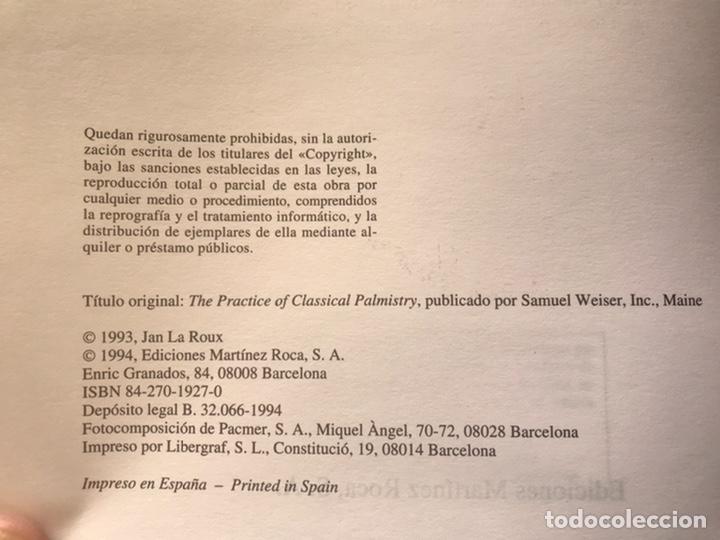 Libros de segunda mano: El gran libro de la quiromancia. Madame la Roux. . Martínez roca. Como nuevo - Foto 4 - 193943668