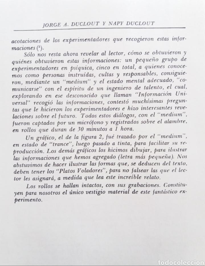 Libros de segunda mano: LOS PLATOS VOLADORES JORGE Y NAPY DUCLOUT 1953 ULTRA RARO UFOLOGIA OVNIS CONTACTISMO - Foto 3 - 184672208