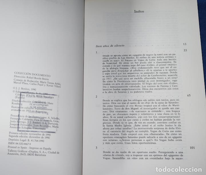 Libros de segunda mano: La quinta columna - J.J.Benitez - Editorial Planeta - 2ª edición (1990) - Foto 3 - 191749776