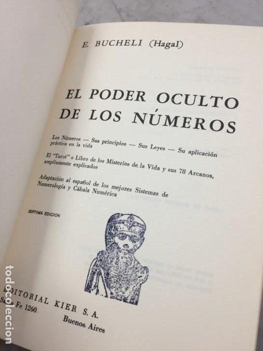 Libros de segunda mano: EL PODER OCULTO DE LOS NUMEROS, E. Buchelli (Hagal) - KIER - Argentina - 1973 - Foto 3 - 192858993