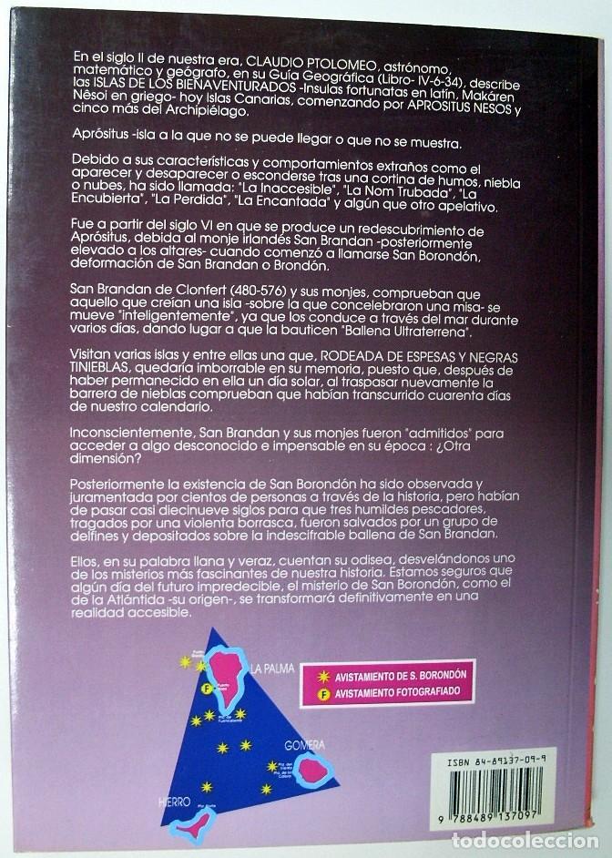 Libros de segunda mano: 1996. SAN BORONDÓN. CONEXIÓN EXTRATERRESTRE EN CANARIAS. PEDRO GONZÁLEZ VEGA. PROYECTO ARIDANE. - Foto 2 - 194580786