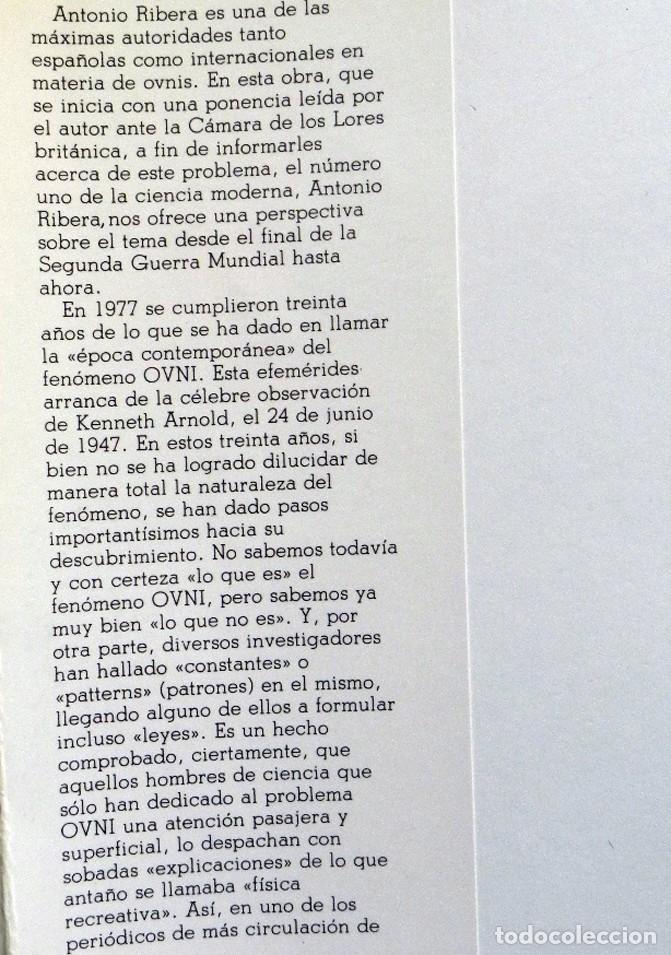 Libros de segunda mano: TREINTA AÑOS DE OVNIS LIBRO ANTONIO RIVERA UFOLOGÍA CASOS RÍO DE JANEIRO LA NUBE RÍGIDA ETC MISTERIO - Foto 2 - 194725372