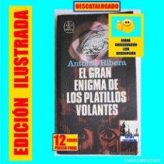 Libros de segunda mano: EL GRAN ENIGMA DE LOS PLATILLOS VOLANTES - ANTONIO RIBERA - PLAZA & JANES - UFOLOGÍA - 12 EUROS. Lote 194907237