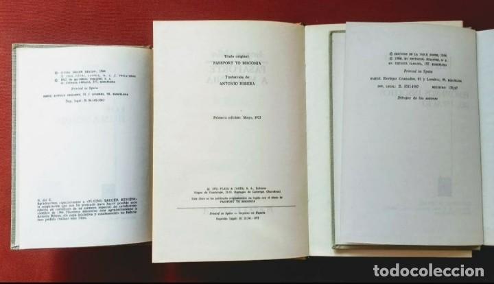 Libros de segunda mano: JACQUES VALLÉE - 1ª EDICIÓN - LOS HUMANOIDES - PASAPORTE A MAGONIA - FENÓMENOS INSÓLITOS DEL ESPACIO - Foto 3 - 195392521