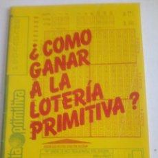 Libros de segunda mano: ¿COMO GANAR A LA LOTERIA PRIMITIVA? LIBRO DE NUMEROLOGIA.. Lote 200018713