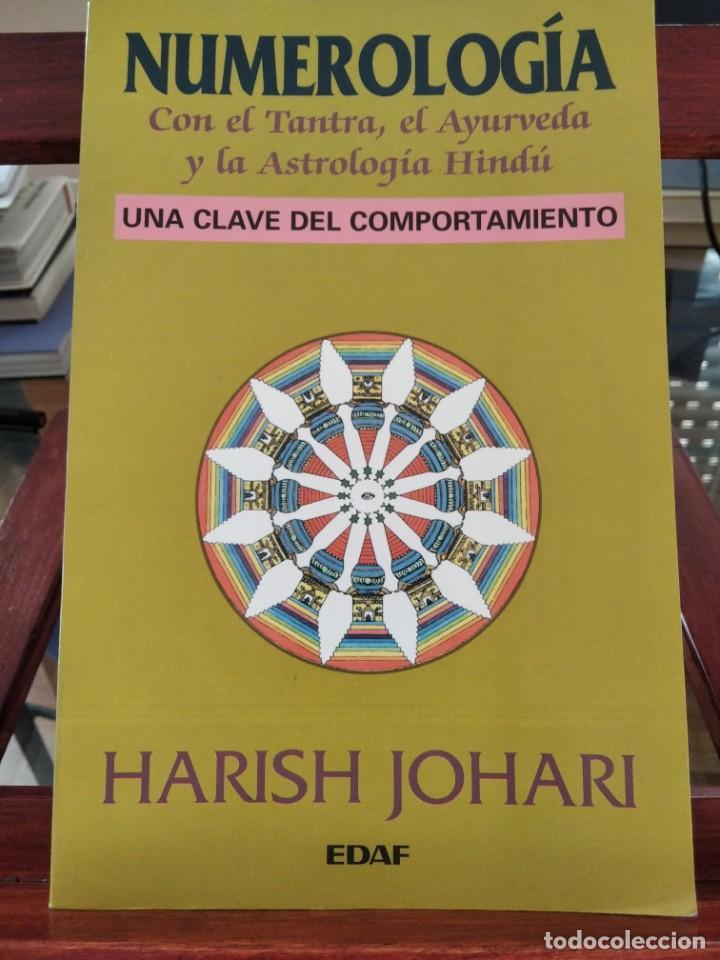 NUMEROLOGIA-CON EL TANTRA,EL AVURYEDA Y LA ASTROLOGIA HINDU-HARISH JOHARI-EDAF-1995 (Libros de Segunda Mano - Parapsicología y Esoterismo - Numerología y Quiromancia)