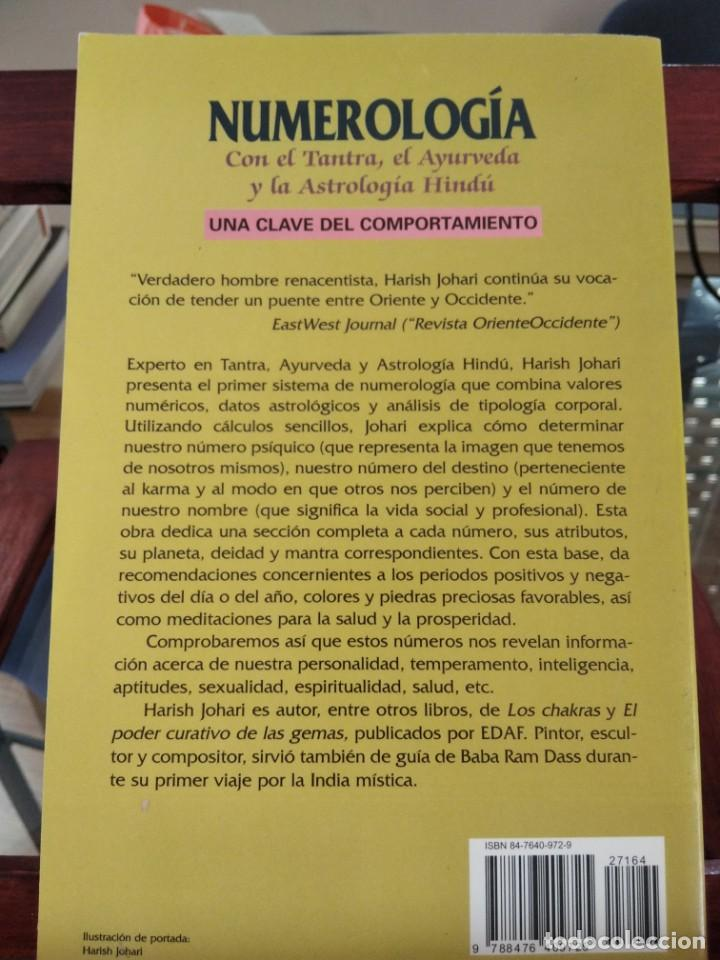 Libros de segunda mano: NUMEROLOGIA-Con el tantra,el avuryeda y la astrologia hindu-HARISH JOHARI-EDAF-1995 - Foto 4 - 205251743
