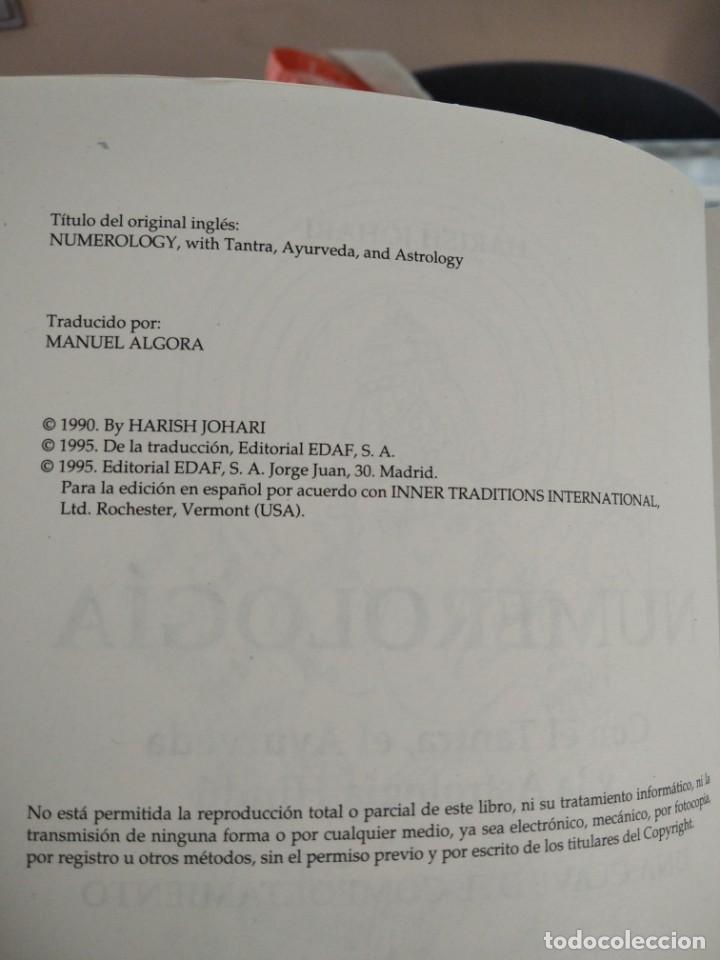 Libros de segunda mano: NUMEROLOGIA-Con el tantra,el avuryeda y la astrologia hindu-HARISH JOHARI-EDAF-1995 - Foto 6 - 205251743