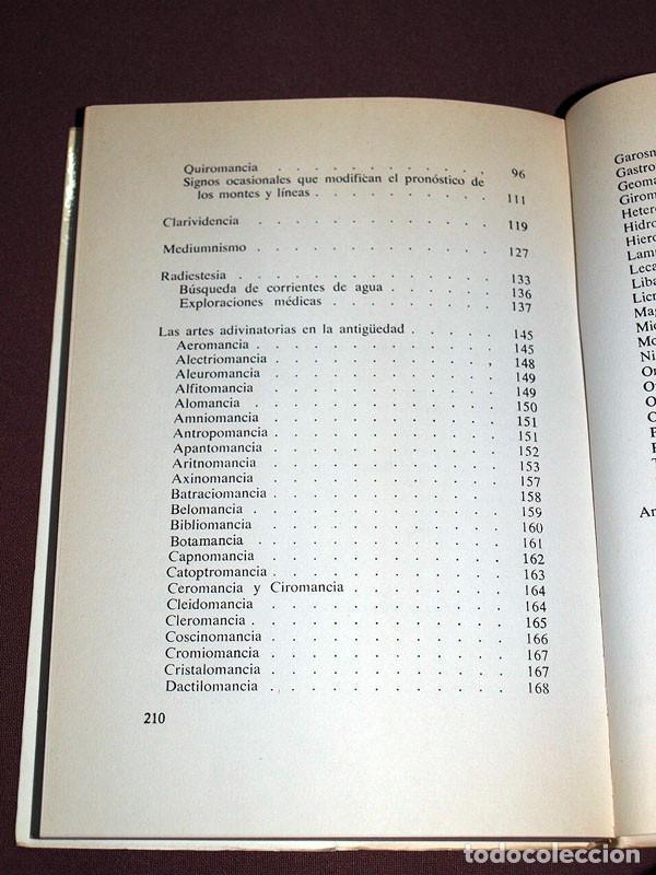 Libros de segunda mano: COMO PREDECIR EL FUTURO. CARTOMANCIA, QUIROMANCIA, RADIESTESIA. Laila SHEMESH. De Vecchi, 1974. - Foto 3 - 205300880