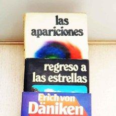 Libros de segunda mano: PACK 3 LIBROS VON DÄNIKEN: REGRESO A LAS ESTRELLAS + LAS APARICIONES + PROFETA DEL PASADO - VON DÄNI. Lote 205450147