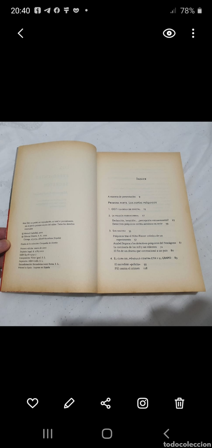 Libros de segunda mano: Los expedientes secretos 1° edición 2001 por Manuel Carballal. Muy raro. - Foto 4 - 206400538