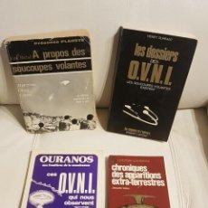Libros de segunda mano: LOTE DE 4 MÍTICOS LIBROS EN FRANCES SOBRE UFOLOGÍA - MUY RAROS - OVNIS - EXTRATERRESTRES. Lote 209058950