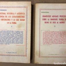 Libros de segunda mano: JEREMÍAS LÓPEZ DE S. LOTE DE 2 LIBROS (PRÓXIMA, HISTÓRICA Y AUTÉNTICA VENIDA DE LOS EXTRATERRESTRES. Lote 209169562