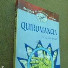 Libros de segunda mano: QUIROMANCIA. DR. LEONARD WOLF. EDIMAT, 2000. 185 PP. ILUSTRADO.. Lote 209199021