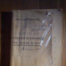 Libros de segunda mano: LA VIDA EN TUS MANOS - BERYL HUTCHINSON - PLUS VITAE - SIN PORTADA. Lote 210388351