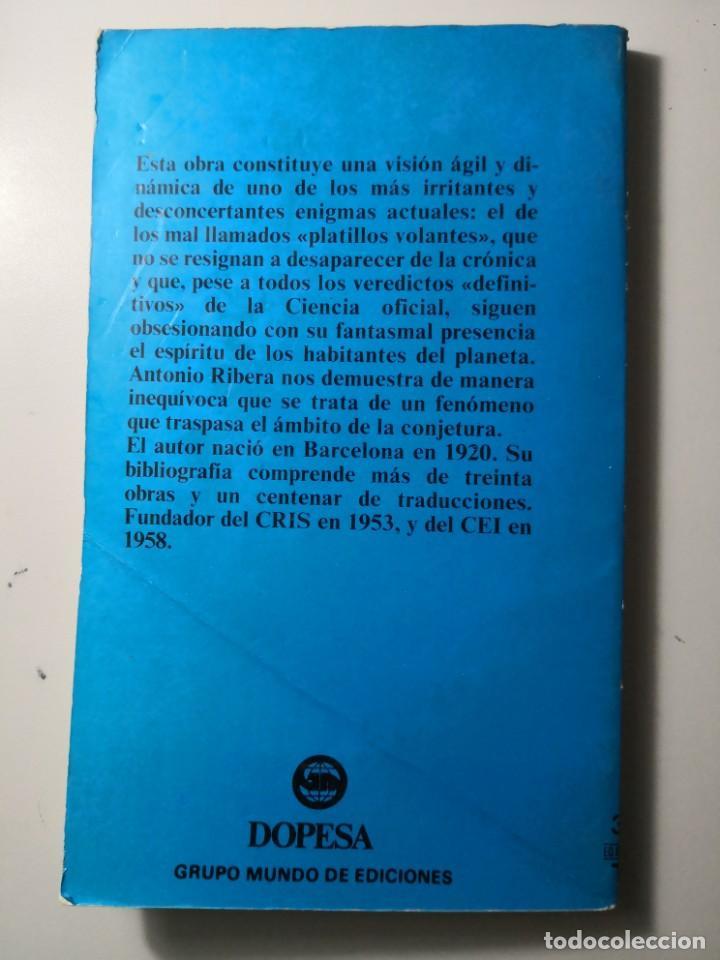 Libros de segunda mano: Antonio Rivera proceso a los ovnis dopesa envío certif 5,99 - Foto 2 - 210561516