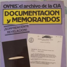 Libros de segunda mano: OVNIS: EL ARCHIVO DE LA CIA. DOCUMENTACIÓN Y MEMORANDOS – ANDREAS FABER-KAISER. Lote 214470056