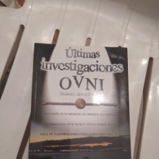 Libros de segunda mano: ULTIMAS INVESTIGACIONES OVNI MANUEL GOMIS DESCATALOGADO E IMPOSIBLE DE CONSEGUIR. Lote 218145818