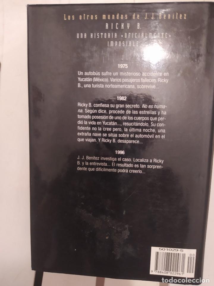 Libros de segunda mano: RICKY B. J J BENITEZ ENVIO CERTIFICADO INCLUIDO - Foto 2 - 218149081