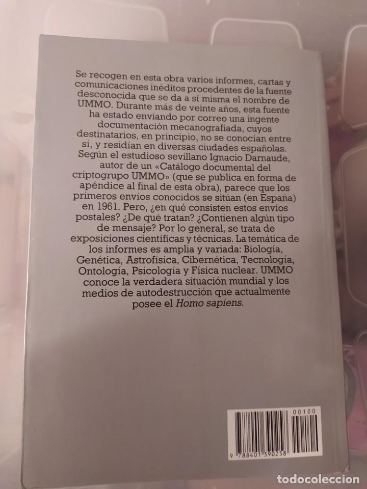 Libros de segunda mano: UMMO INFORMA A LA TIERRA ENVIO CERTIFICADO INCLUIDO - Foto 2 - 218149525