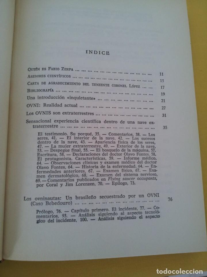 Libros de segunda mano: FABIO ZERPA - LOS HOMBRES DE NEGRO Y LOS OVNIS - PLAZA & JANES 1979 - EDICION ILUSTRADA - Foto 4 - 222619258