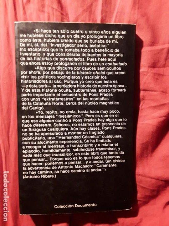 Libros de segunda mano: El mensaje de otros mundos, de Eduardo Pons Prades. Escaso. Excelente estado. - Foto 2 - 288380963