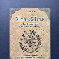 Livres d'occasion: NÚMEROS & LETRAS. LOS TRENTA Y DOS CAMINOS DE LA SABIDURÍA.. Lote 227589755