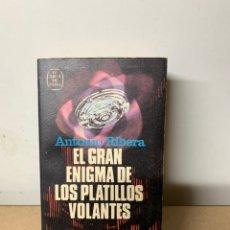 Libri di seconda mano: EL GRAN ENIGMA DE LOS PLATILLOS VOLANTES, ANTONIO RIBERA. Lote 234516405