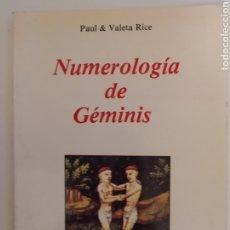 Libros de segunda mano: NUMEROLOGÍA DE GEMINIS. Lote 243308600