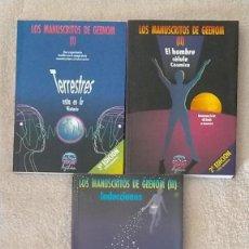Libros de segunda mano: LOS MANUSCRITOS DE GEENOM TOMOS I II Y III GRUPO AZTLÁN 21 X 15 X 2. Lote 251624440