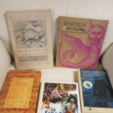 Libros de segunda mano: LOTE DE LUJO DE 5 LIBROS SOBRE PRODIGIOS, MONSTRUOS, SERES IMAGINARIOS, MÍTICOS Y FANTÁSTICOS. Lote 254286095