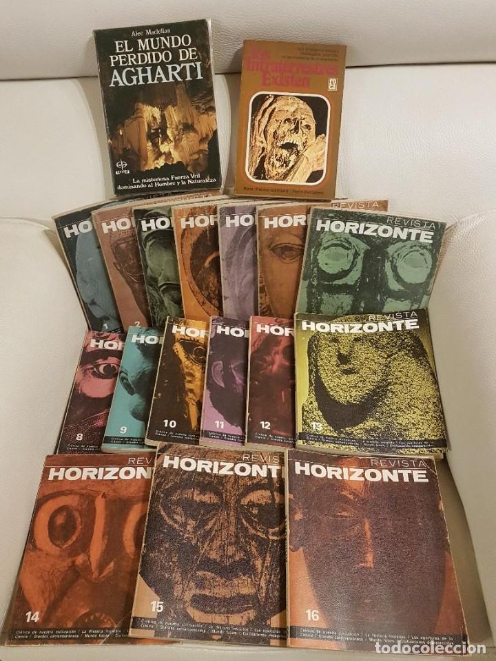 HORIZONTE COLECCIÓN COMPLETA EN 16 NÚMEROS + 2 LIBROS, INTRATERRESTRES Y EL MUNDO PERDIDO DE AGHARTI (Libros de Segunda Mano - Parapsicología y Esoterismo - Ufología)