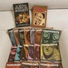 Libri di seconda mano: HORIZONTE COLECCIÓN COMPLETA EN 16 NÚMEROS + 2 LIBROS, INTRATERRESTRES Y EL MUNDO PERDIDO DE AGHARTI. Lote 254288665