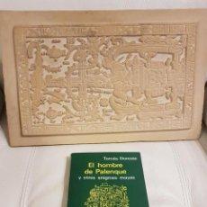 Libros de segunda mano: LIBRO Y LOSA TUMBA EL ASTRONAUTA DE PALENQUE /ORIGINAL /HECHA A MANO EN PALENQUE-MÉXICO - OVNIS. Lote 254288970