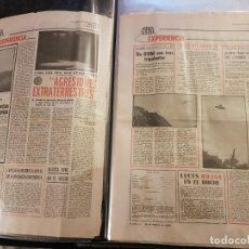 Libros de segunda mano: ÚNICAS 106 PÁGINAS ORIGINALES DE OVNI-EXPERIENCIA DEL DIARIO PUEBLO AÑOS 70 Y 80 + RECORTES OVNIS. Lote 254289505