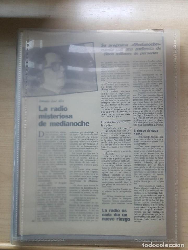 Libros de segunda mano: MÁS DE 300 ARTÍCULOS DE ANTONIO JOSÉ ALÉS AÑOS 1989-1992 EN PRENSA-REVISTAS - OVNIS - PARAPSICOLOGÍA - Foto 4 - 254290055