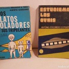 Libros de segunda mano: 2 LIBROS ÚNICOS E INENCONTRABLES SOBRE UFOLOGÍA, OVNIS Y EXTRATERRESTRES - ESPECIAL COLECCIONISTAS. Lote 254290220