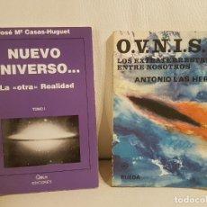 Libros de segunda mano: 2 LIBROS ÚNICOS E INENCONTRABLES SOBRE UFOLOGÍA, OVNIS Y EXTRATERRESTRES - ESPECIAL COLECCIONISTAS. Lote 254290850
