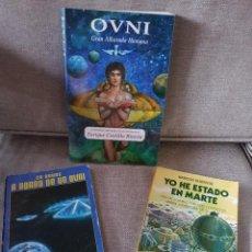 Libros de segunda mano: LOTE DE 3 DIFICILÍSIMOS LIBROS SOBRE CONTACTADOS OVNI - ESPECIAL COLECCIONISTAS - OVNIS - ETES. Lote 261857605