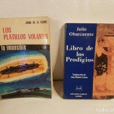 Libros de segunda mano: 2 LIBROS ÚNICOS E INENCONTRABLES SOBRE UFOLOGÍA, OVNIS Y EXTRATERRESTRES - ESPECIAL COLECCIONISTAS. Lote 262553230