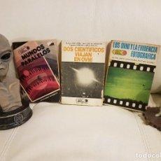 Libros de segunda mano: 3 LIBROS ÚNICOS E INENCONTRABLES SOBRE UFOLOGÍA, OVNIS Y EXTRATERRESTRES - ESPECIAL COLECCIONISTAS. Lote 262560305