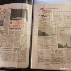 Libros de segunda mano: ÚNICAS 106 PÁGINAS ORIGINALES DE OVNI-EXPERIENCIA DEL DIARIO PUEBLO AÑOS 70 Y 80 + RECORTES OVNIS. Lote 262564470