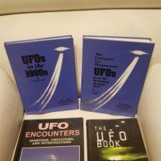 Libros de segunda mano: LOTE DE 4 MÍTICOS LIBROS EN INGLES SOBRE UFOLOGÍA - MUY RAROS - OVNIS - EXTRATERRESTRES - UFOS. Lote 262565920