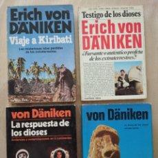 Libros de segunda mano: LOTE 4 VON DÄNIKEN - KIRIBATI + LA RESPUESTA DE LOS DIOSES + MENSAJE + TESTIGO. Lote 265800724